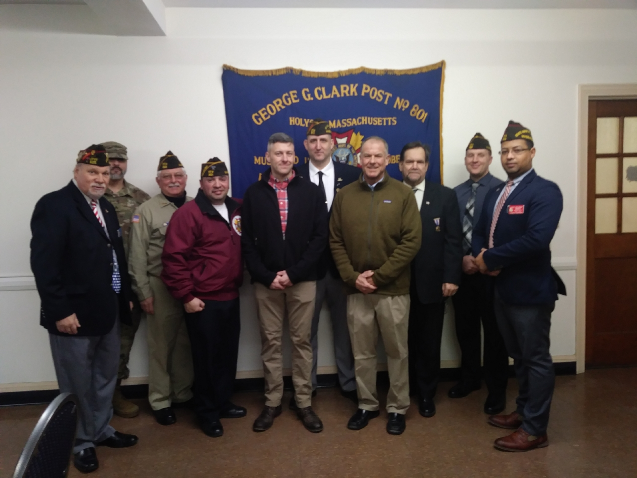 New Member Induction Ceremony for VFW Post 801 in Holyoke, MA.